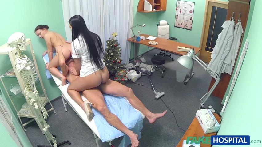 Fakehospital doctor and nurse enjoy patients wet pussy Part 9