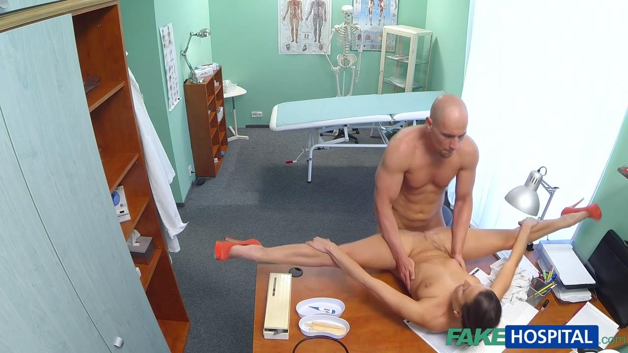image Fakehospital petite babe takes double cumshot in private hospital
