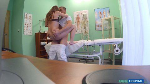 Great fake hospital doctor gives sexy ebony brazilian student a hard fucking very